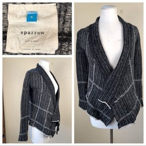 Anthropologie Sparrow black and white cardigan